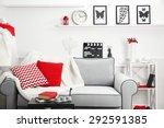 modern living room interior | Shutterstock . vector #292591385