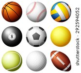 sport balls illustration. | Shutterstock . vector #292594052