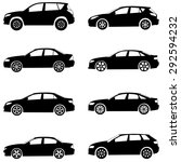cars silhouette set...   Shutterstock . vector #292594232