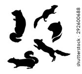 Chipmunk Icons And Silhouettes...