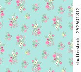 seamless floral ditsy pattern... | Shutterstock .eps vector #292601312