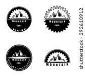 retro badges. mountains | Shutterstock .eps vector #292610912