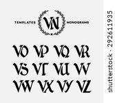 Monogram Design Template With...