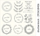 collection of hand drawn... | Shutterstock .eps vector #292618406