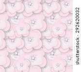 light pink sakura blossom paper ... | Shutterstock .eps vector #292620032