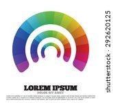 rainbow color pie shape... | Shutterstock .eps vector #292620125