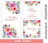 invitation. wedding card. save... | Shutterstock .eps vector #292620938