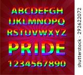 colorful alphabet celebrate... | Shutterstock .eps vector #292622072