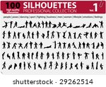 100 silhouettes professional... | Shutterstock .eps vector #29262514