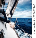 The White Sails Of Yachts On...