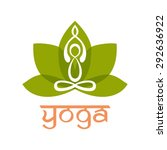 yoga logo design vector... | Shutterstock .eps vector #292636922