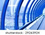 violet corridor in tube bridge