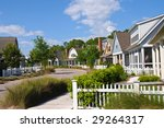 New Homes in a Beach Community - stock photo