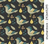 vector seamless pattern with... | Shutterstock .eps vector #292645295