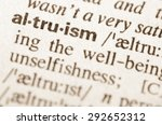 Small photo of Definition of word altruism in dictionary