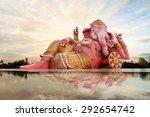 ganesha  hindu god and sky with ... | Shutterstock . vector #292654742