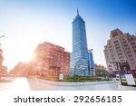 torre latinoamericana on juarez ... | Shutterstock . vector #292656185