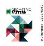 geometric triangle mosaic... | Shutterstock . vector #292675052