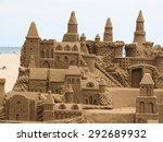 A Lavish And Large Sand Castle...
