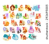 Cute Cartoon Animals Alphabet...