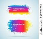 grunge vector banner. eps10... | Shutterstock .eps vector #292695218