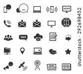 communication icons vector... | Shutterstock .eps vector #292698452