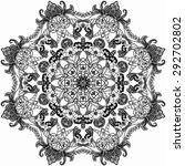 mandala. round ornament pattern.... | Shutterstock .eps vector #292702802