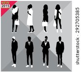 set of men and women black...   Shutterstock .eps vector #292705385