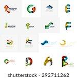 set of new universal company... | Shutterstock .eps vector #292711262