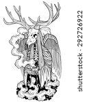 devil deer | Shutterstock .eps vector #292726922