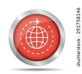 globe and plane travel icon.    Shutterstock . vector #292758146