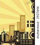 sunrise cityscape silhouette... | Shutterstock .eps vector #2927646