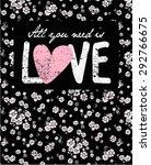 daisy vintage print and slogan. ... | Shutterstock .eps vector #292766675