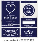 wedding invitation card... | Shutterstock .eps vector #292779122