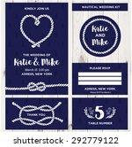 wedding invitation card... | Shutterstock .eps vector #292779122