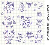 10 Vector Doodle Cute Funny...