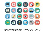 flat seo and marketing icons 1  | Shutterstock .eps vector #292791242