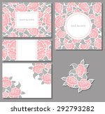 set of floral backgrounds with... | Shutterstock .eps vector #292793282