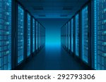 server room in datacenter.... | Shutterstock . vector #292793306