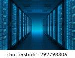 server room in datacenter.... | Shutterstock . vector #292793306
