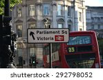 london  uk  parliament sq and...   Shutterstock . vector #292798052