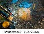 the artist's palette. spray... | Shutterstock . vector #292798832