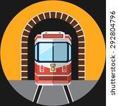 railway tunnel .vector flat... | Shutterstock .eps vector #292804796