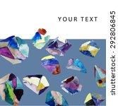 watercolor crystals. geometric... | Shutterstock .eps vector #292806845