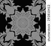 circular seamless  pattern of ... | Shutterstock . vector #292810412