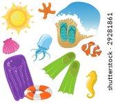 vector vacation icon set   Shutterstock .eps vector #29281861