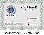 retro presentation card.... | Shutterstock .eps vector #292820705