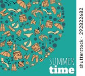 pattern with summer... | Shutterstock .eps vector #292822682