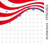 Patriotic Wave Background. Usa...