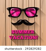 hipster pink sunglasses on... | Shutterstock .eps vector #292829282